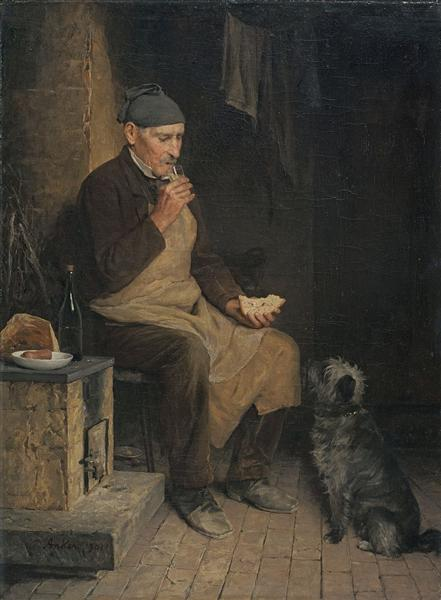 Old man taking a rest (Gyp), 1901 - Albert Anker
