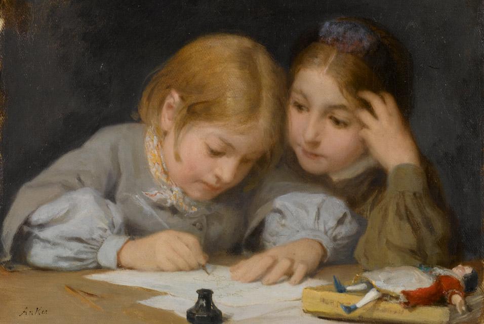 Schreibunterricht, 1865