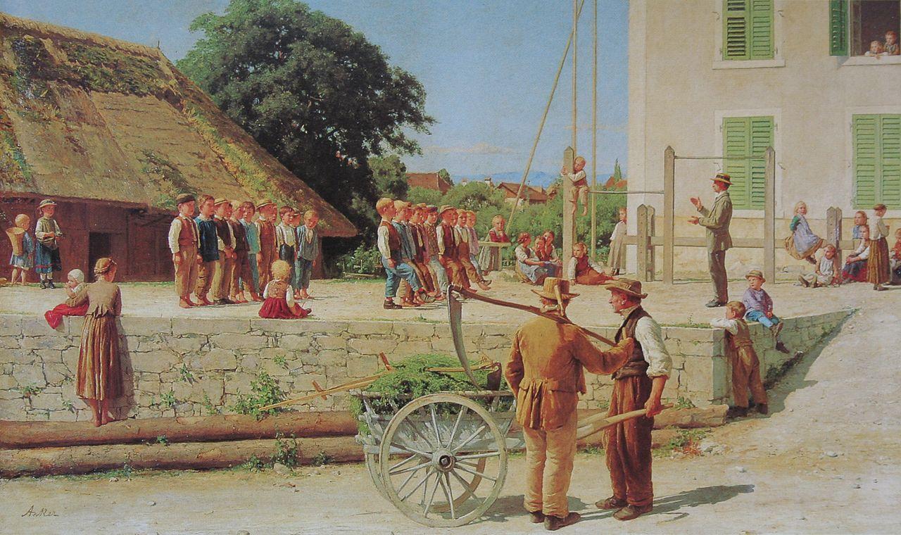 Turnstunde in Ins, 1879