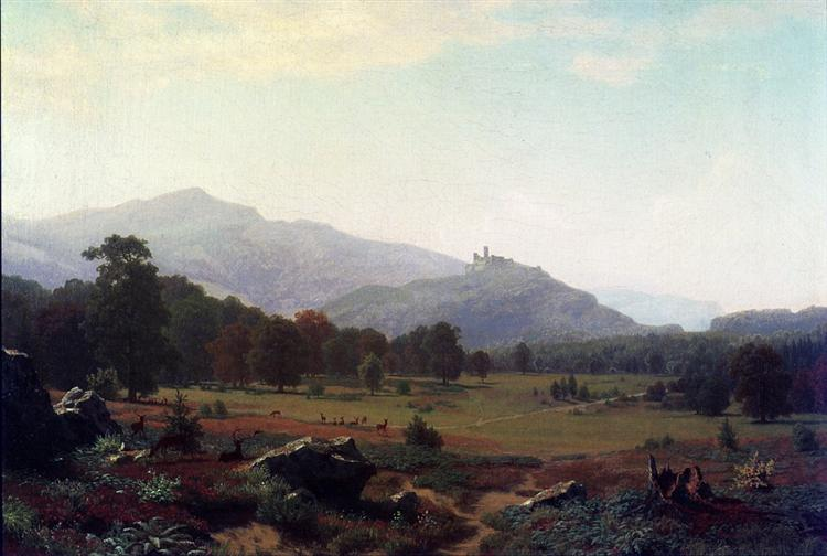 Autumn in the Conway Meadows Looking towards Mount Washington, New Hampshire, 1858 - Альберт Бірштадт