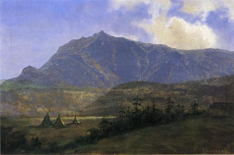 Indian Encampment, Albert Bierstadt. Image via Wikimedia Commons. Public domain.
