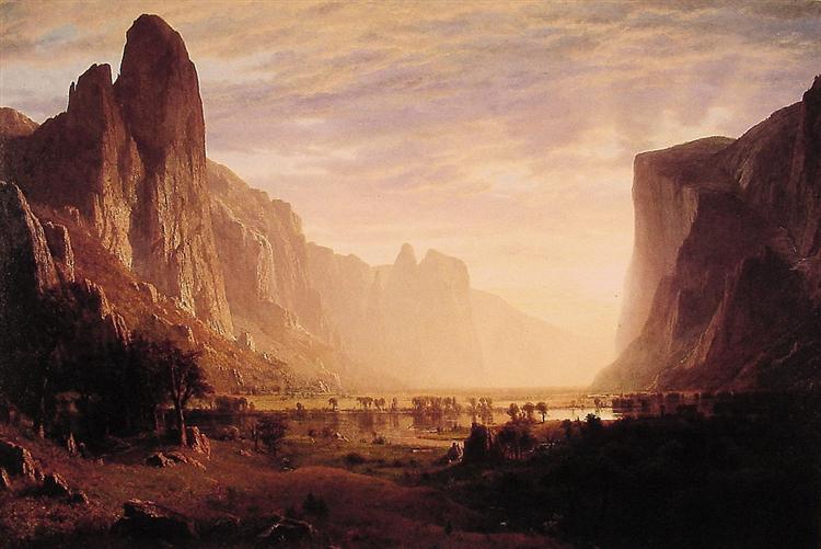 Looking Down Yosemite Valley, California, 1865 - Альберт Бірштадт