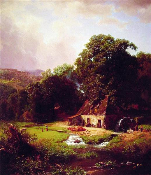 The Old Mill, 1855 - Albert Bierstadt