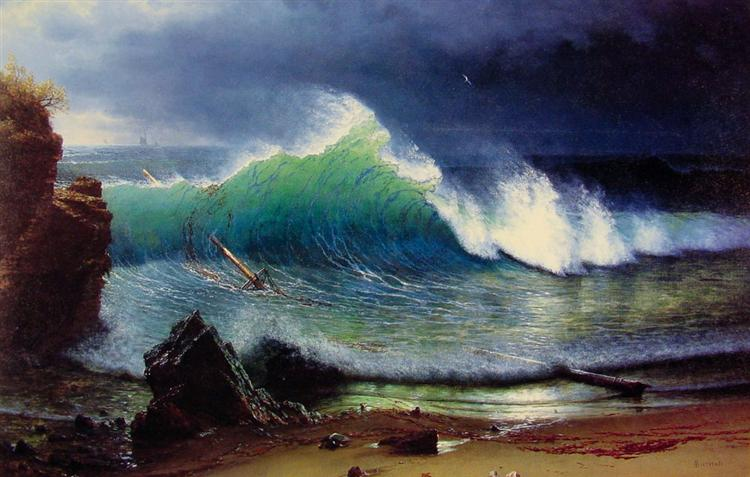 The Shore of the Turquoise Sea, 1878 - Albert Bierstadt