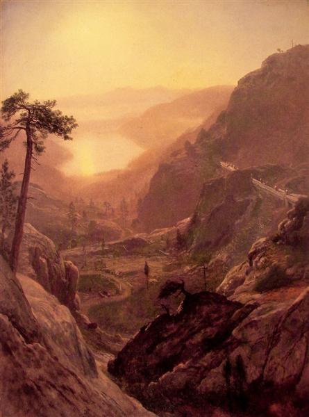 View of Donner Lake, California, 1871 - 1872 - Albert Bierstadt