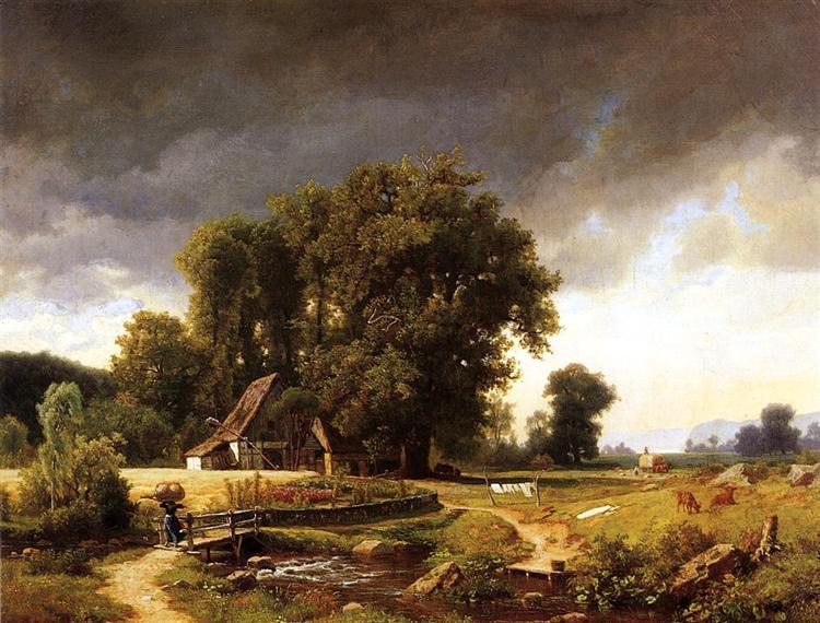 Westphalian Landscape, 1855 - Albert Bierstadt