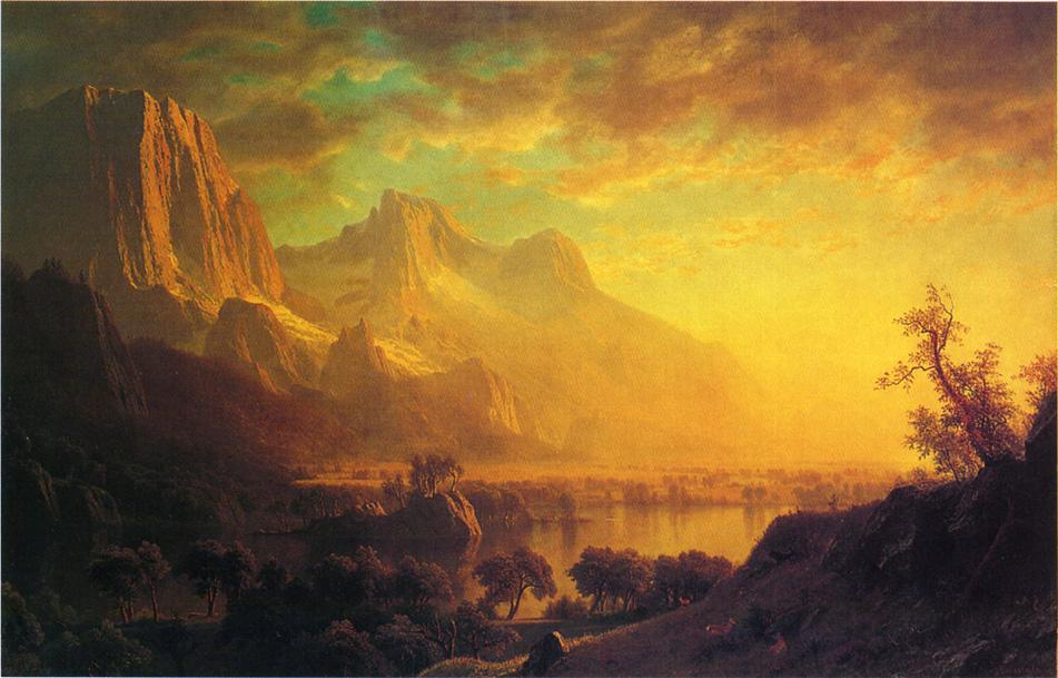 Albert Bierstadt, Wind River, Wyoming, c. 1870