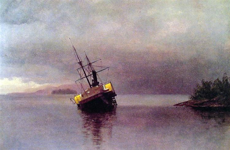 Wreck of the 'Ancon' in Loring Bay, Alaska, 1889 - Albert Bierstadt