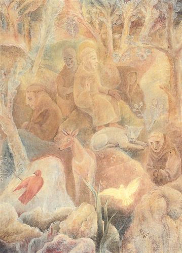 Saint Francis in the Woods - Albert Bloch