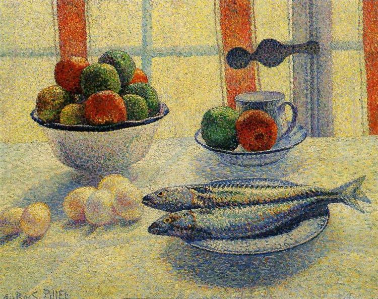 Still Life With Fish, c.1885 - Albert Dubois-Pillet