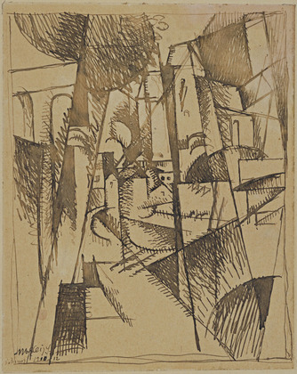 Landscape with Bridge and Viaduct, 1910 - Albert Gleizes