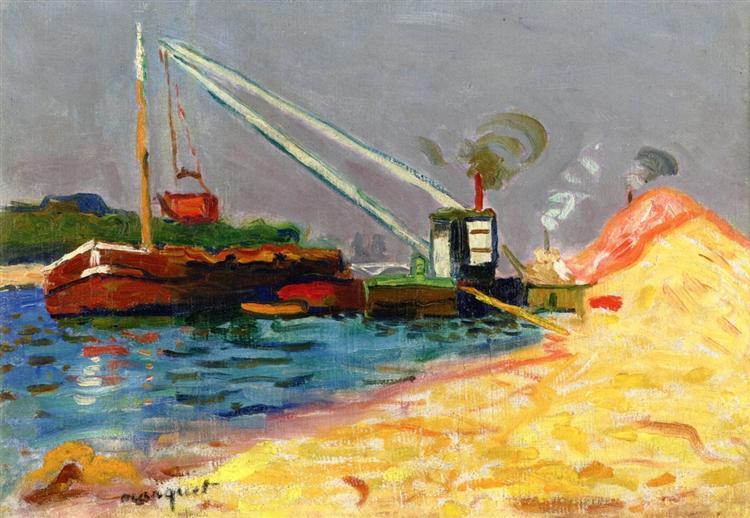 Unloading Sand - Albert Marquet