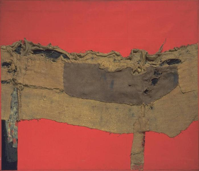Sacking and Red, 1954 - Alberto Burri