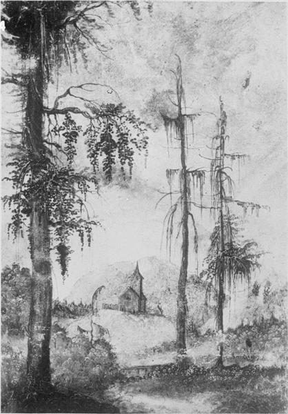 Alpine Landscape withChurch, 1522 - Albrecht Altdorfer