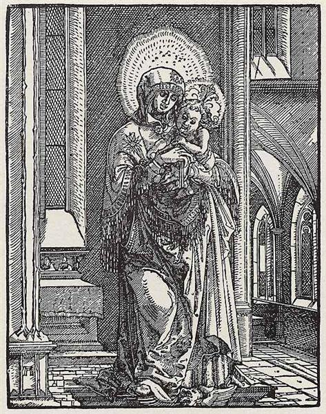 Beautiful Mary in the Church, 1519 - Albrecht Altdorfer