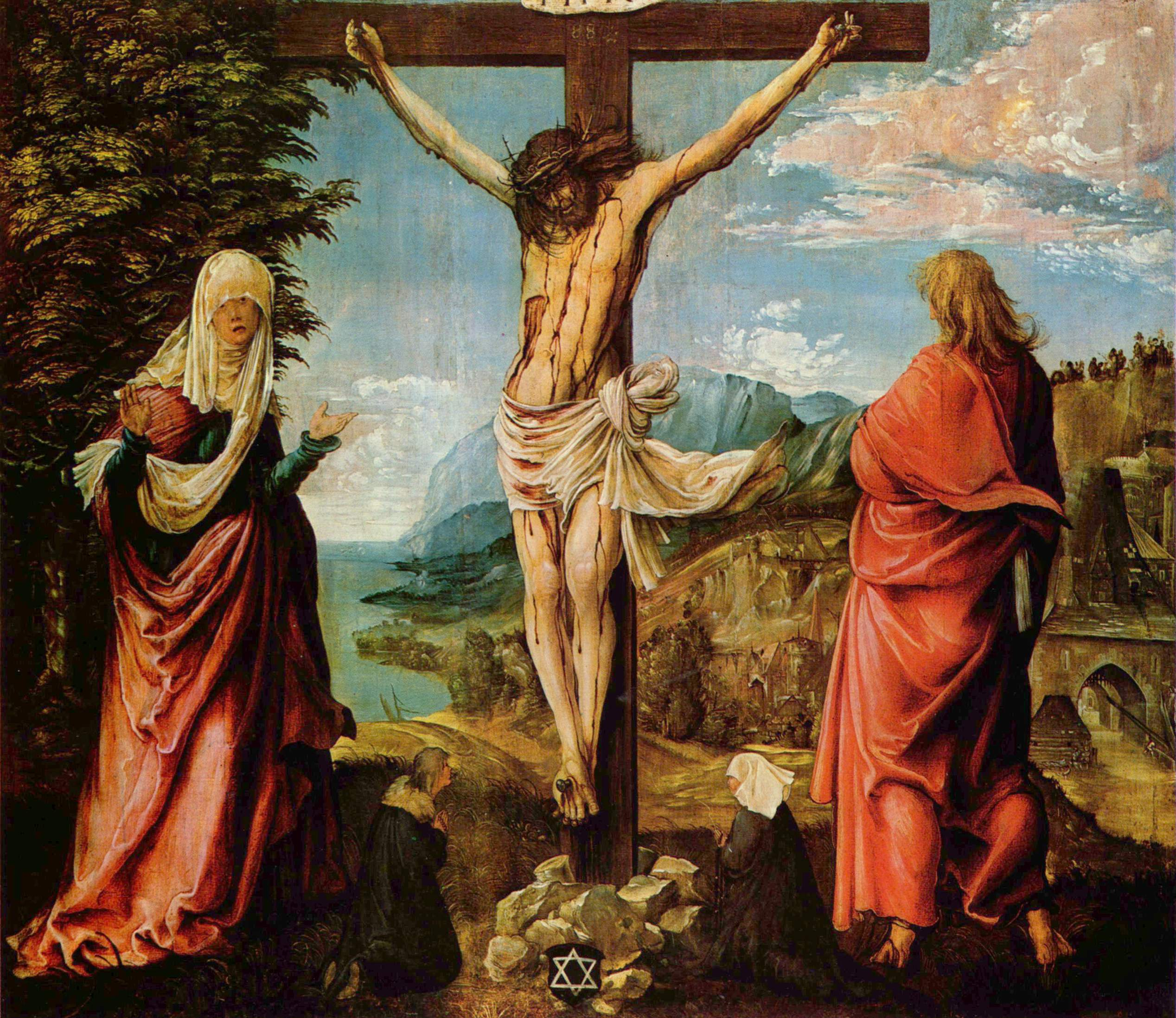 Crucifixionscene,Christon the Cross withMary and John, 1515-1516