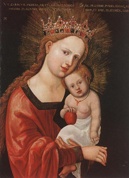 Mary with the Child, 1520 - 1525 - Albrecht Altdorfer