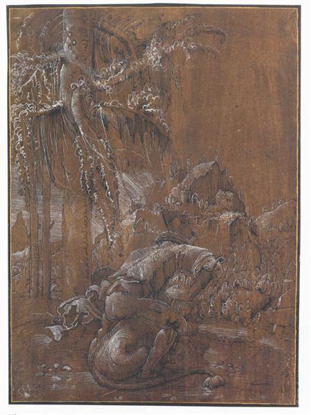 Samson and the Lion, 1512 - Albrecht Altdorfer