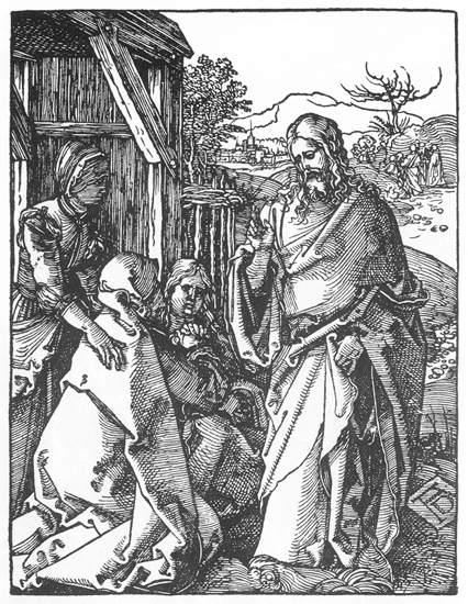 Christ Taking Leave of His Mother, 1511 - Albrecht Durer