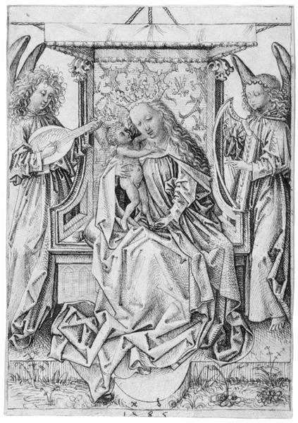 Madonna and Child with musical angels, 1485 - Albrecht Durer
