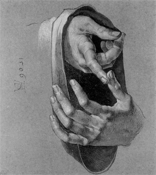 Study of Hands, 1506 - Albrecht Durer