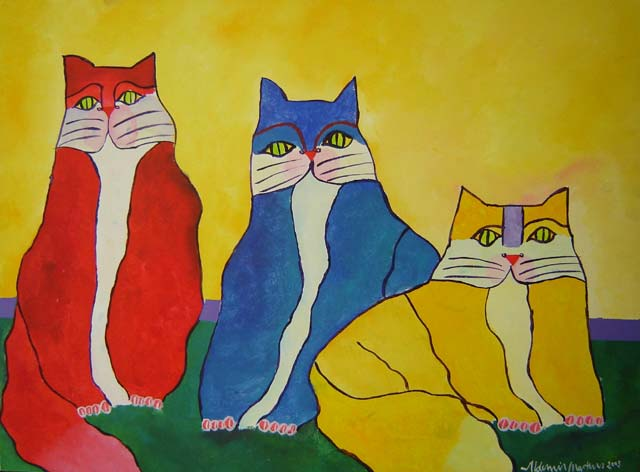 Family of Cats, 2003 - Aldemir Martins