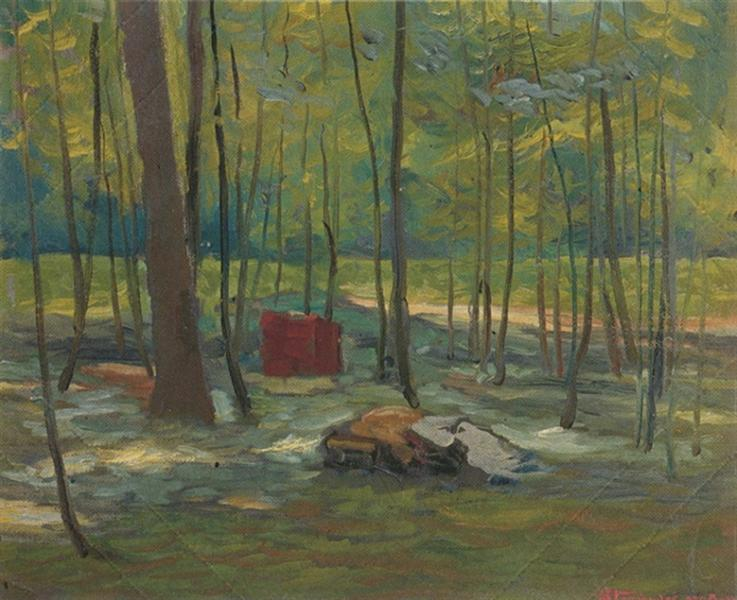 The forest, 1938 - Alekos Kontopoulos