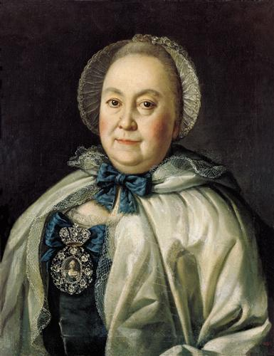 Portrait of Countess M.A.Rumyantzeva - Aleksey Antropov