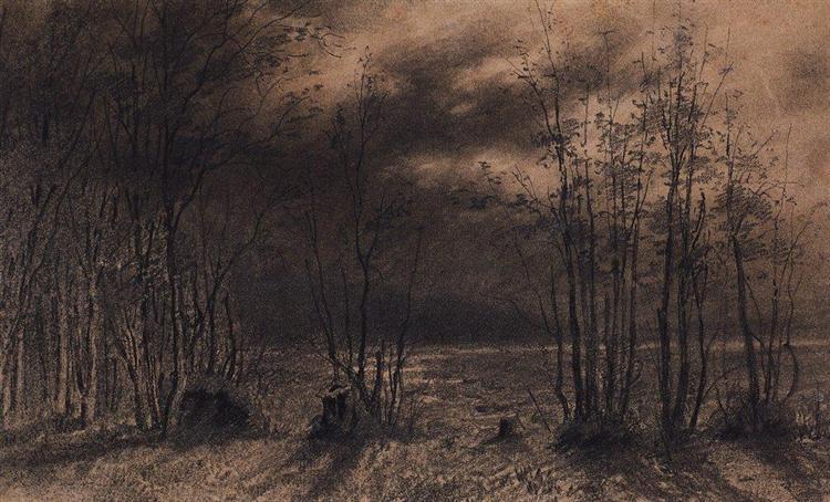 Autumn night, 1872 - Aleksey Savrasov