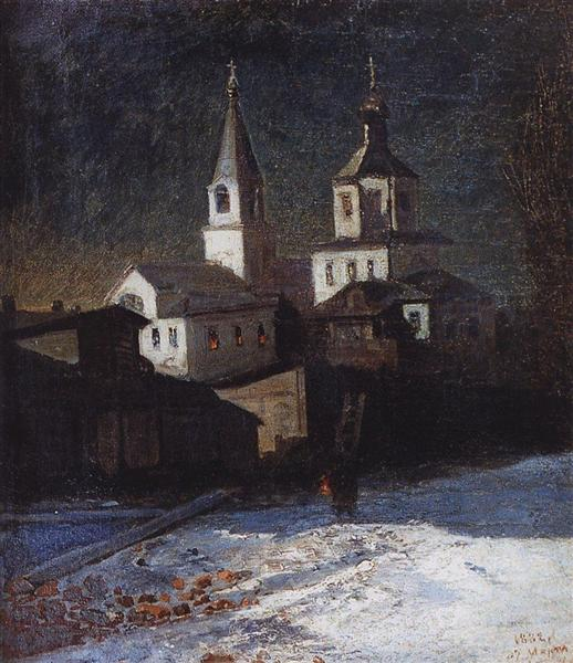 Church of Elijah the ordinary in Moscow, 1882 - Alexei Kondratjewitsch Sawrassow
