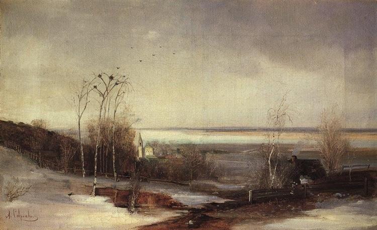 Early spring.Dali, c.1870 - Aleksey Savrasov