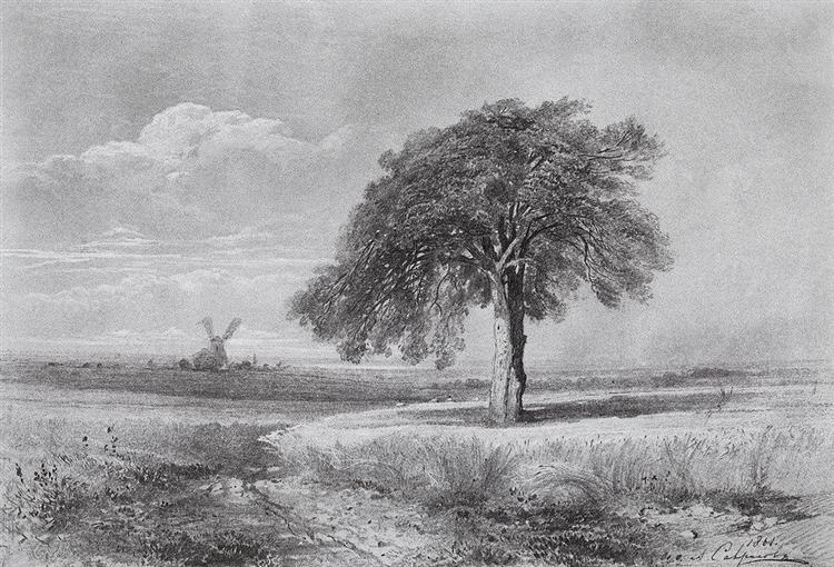 Landscape with a Mill, 1861 - Aleksey Savrasov
