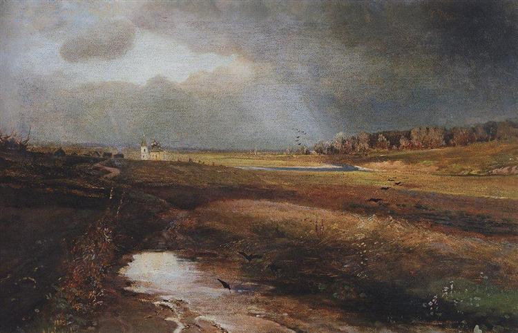 Landscape with Church, 1885 - Alexeï Savrassov