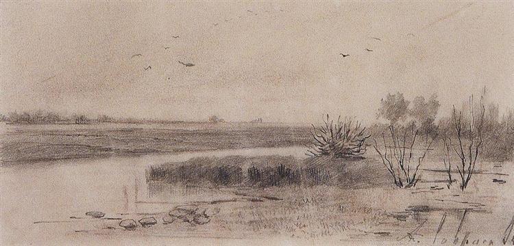 Marshy river, 1875 - Aleksey Savrasov