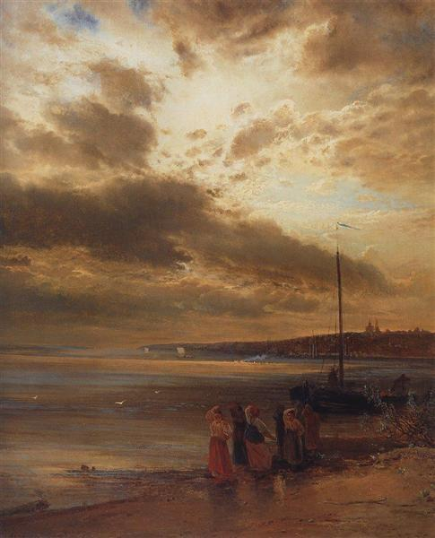 On the Volga, 1875 - Alexei Kondratjewitsch Sawrassow
