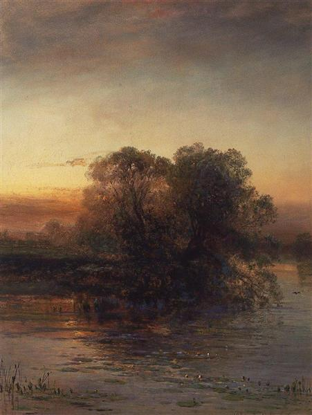 Pond at dusk, 1879 - Aleksey Savrasov