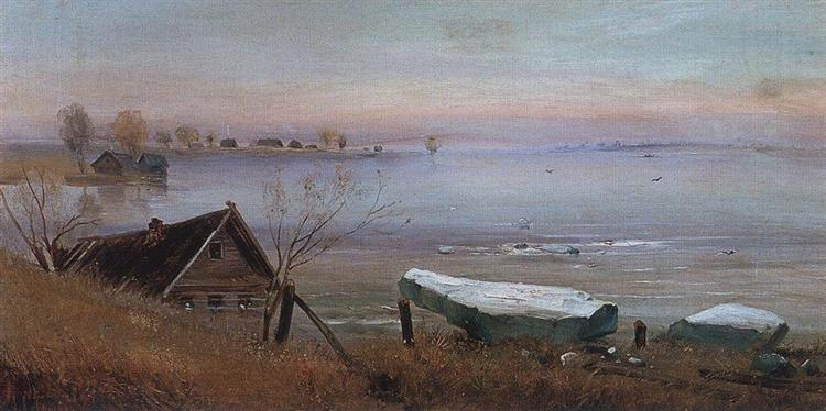 Spring, c.1880 - Олексій Саврасов