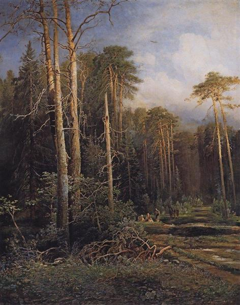 The road in the woods, 1871 - Aleksey Savrasov