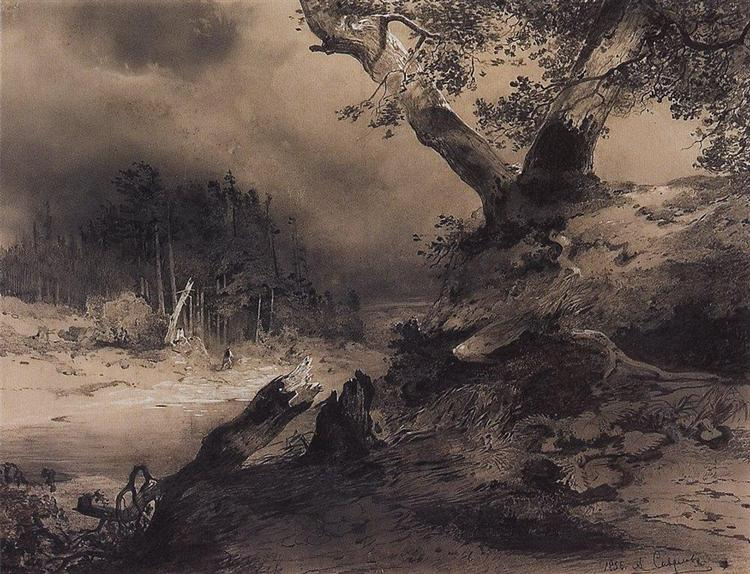 Thunderstorm, 1856 - Aleksey Savrasov