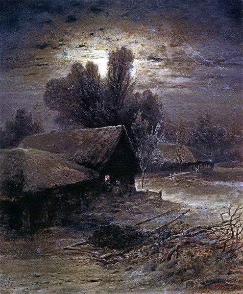 Winter Night, 1869 - Aleksey Savrasov