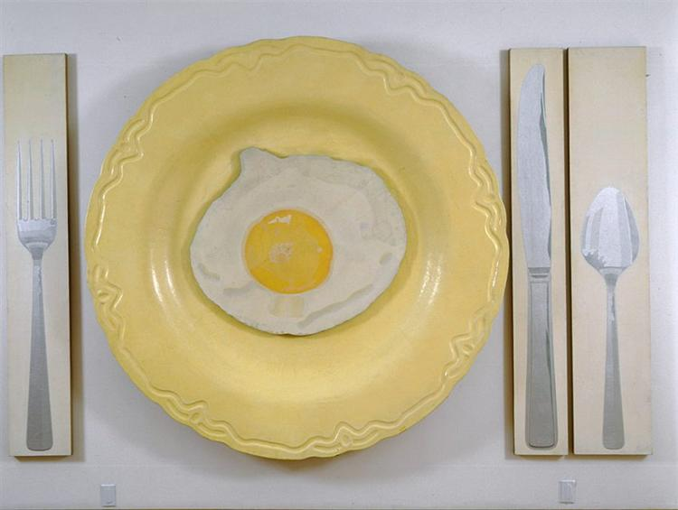 Egg on Plate with Knife, Fork, and Spoon - Алекс Хей