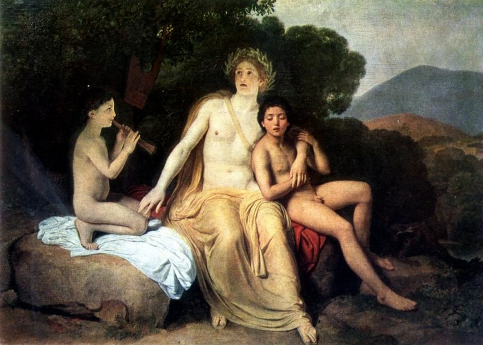 Apollo, Hyacinthus and Cyparis singing and playing, 1834