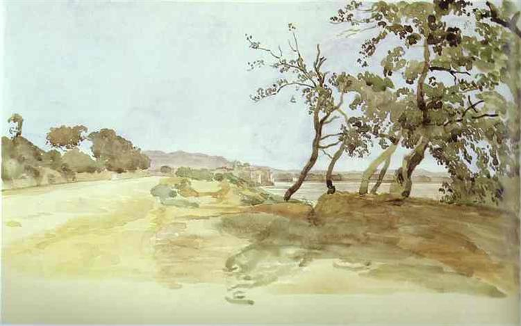 Italian Landscape, c.1850 - Alexander Ivanov