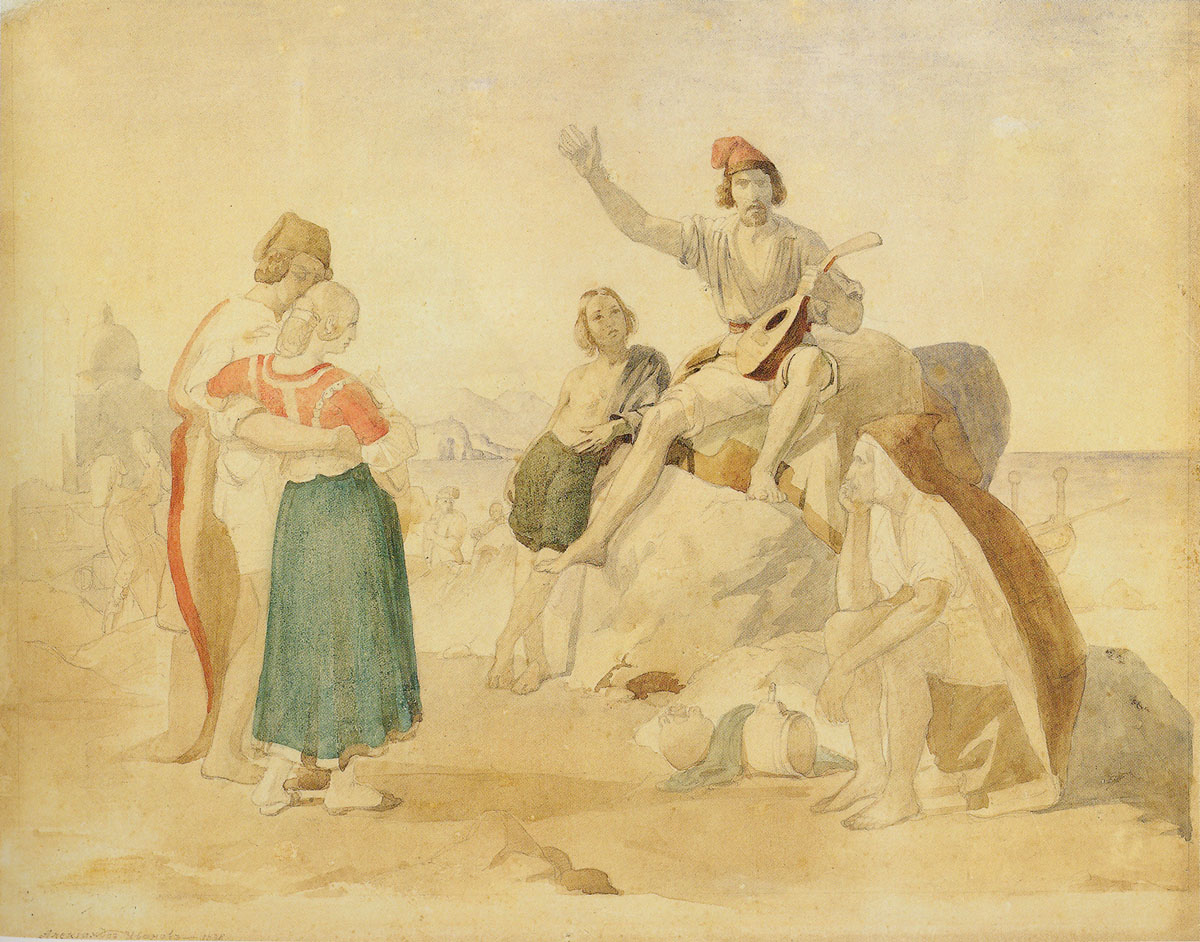 Italian scene, 1838