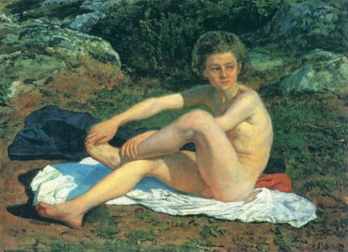 Naked boy, c.1855 - Alexander Ivanov