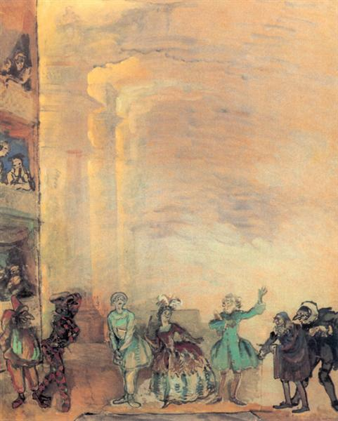 Italian comedy, 1916 - Alexandre Benois