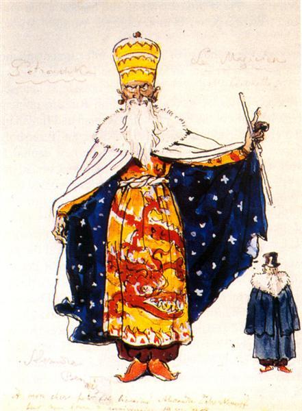 Magician. Costume design, 1957 - Alexandre Benois