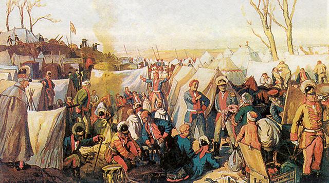 Soldiers of Catherine II - Alexandre Benois