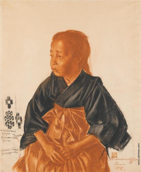 Portrait of a Japanese girl, 1919 - Alexander Jewgenjewitsch Jakowlew
