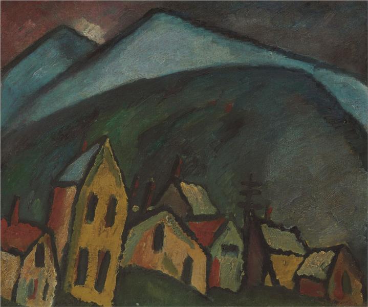 Berglandschaft mit Häusern, 1912 - Алексей фон Явленский